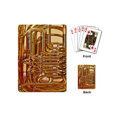 Tuba Valves Pipe Shiny Instrument Music Playing Cards (mini)