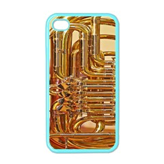 Tuba Valves Pipe Shiny Instrument Music Apple iPhone 4 Case (Color)