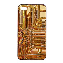 Tuba Valves Pipe Shiny Instrument Music Apple Iphone 4/4s Seamless Case (black)