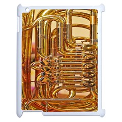 Tuba Valves Pipe Shiny Instrument Music Apple Ipad 2 Case (white)