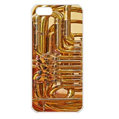 Tuba Valves Pipe Shiny Instrument Music Apple Iphone 5 Seamless Case (white)