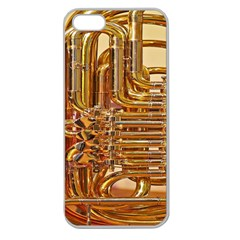 Tuba Valves Pipe Shiny Instrument Music Apple Seamless Iphone 5 Case (clear)