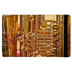 Tuba Valves Pipe Shiny Instrument Music Apple Ipad 2 Flip Case