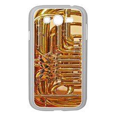 Tuba Valves Pipe Shiny Instrument Music Samsung Galaxy Grand Duos I9082 Case (white)