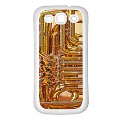 Tuba Valves Pipe Shiny Instrument Music Samsung Galaxy S3 Back Case (white)