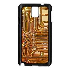 Tuba Valves Pipe Shiny Instrument Music Samsung Galaxy Note 3 N9005 Case (black)