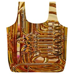 Tuba Valves Pipe Shiny Instrument Music Full Print Recycle Bags (L)