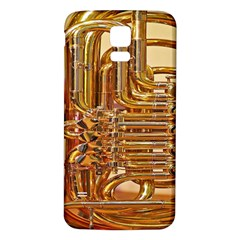 Tuba Valves Pipe Shiny Instrument Music Samsung Galaxy S5 Back Case (white)