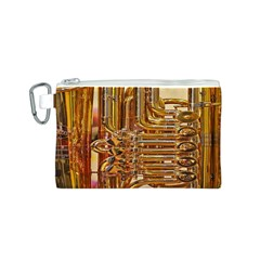 Tuba Valves Pipe Shiny Instrument Music Canvas Cosmetic Bag (s)