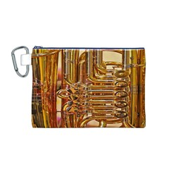 Tuba Valves Pipe Shiny Instrument Music Canvas Cosmetic Bag (m)