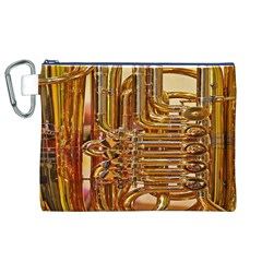 Tuba Valves Pipe Shiny Instrument Music Canvas Cosmetic Bag (XL)