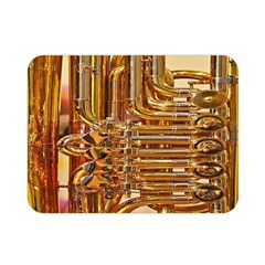 Tuba Valves Pipe Shiny Instrument Music Double Sided Flano Blanket (mini)