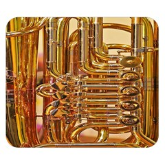 Tuba Valves Pipe Shiny Instrument Music Double Sided Flano Blanket (Small)