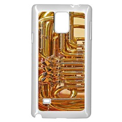 Tuba Valves Pipe Shiny Instrument Music Samsung Galaxy Note 4 Case (white)