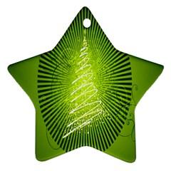 Vector Chirstmas Tree Design Ornament (star)