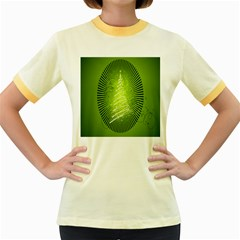 Vector Chirstmas Tree Design Women s Fitted Ringer T Shirts