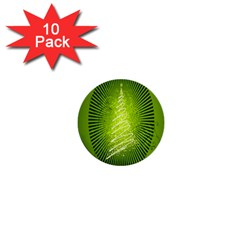 Vector Chirstmas Tree Design 1  Mini Buttons (10 pack)