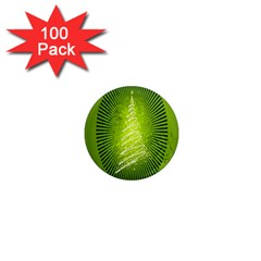 Vector Chirstmas Tree Design 1  Mini Magnets (100 pack)