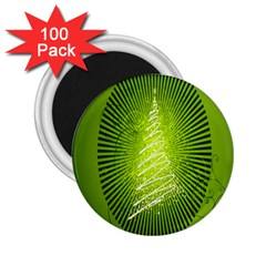 Vector Chirstmas Tree Design 2 25  Magnets (100 Pack)