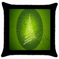 Vector Chirstmas Tree Design Throw Pillow Case (Black)