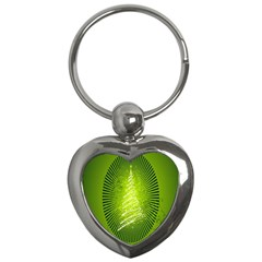 Vector Chirstmas Tree Design Key Chains (heart)