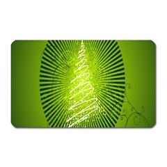 Vector Chirstmas Tree Design Magnet (rectangular)