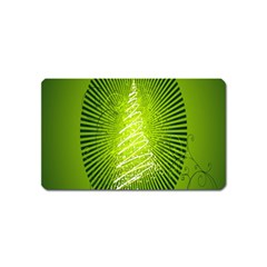 Vector Chirstmas Tree Design Magnet (Name Card)