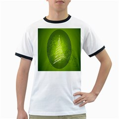 Vector Chirstmas Tree Design Ringer T-Shirts