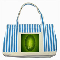 Vector Chirstmas Tree Design Striped Blue Tote Bag