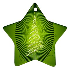 Vector Chirstmas Tree Design Star Ornament (Two Sides)