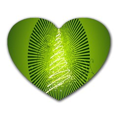 Vector Chirstmas Tree Design Heart Mousepads