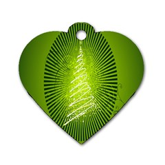 Vector Chirstmas Tree Design Dog Tag Heart (One Side)