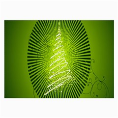 Vector Chirstmas Tree Design Large Glasses Cloth (2-Side)