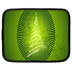Vector Chirstmas Tree Design Netbook Case (Large)