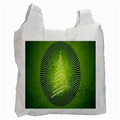 Vector Chirstmas Tree Design Recycle Bag (One Side)