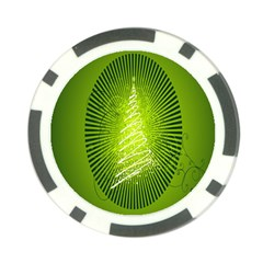 Vector Chirstmas Tree Design Poker Chip Card Guard (10 pack)