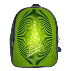 Vector Chirstmas Tree Design School Bags(large)