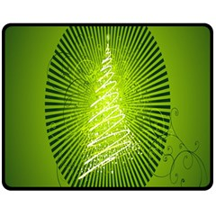 Vector Chirstmas Tree Design Fleece Blanket (medium)