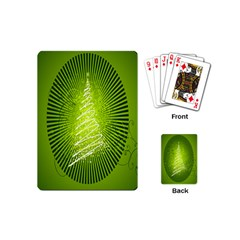 Vector Chirstmas Tree Design Playing Cards (Mini)