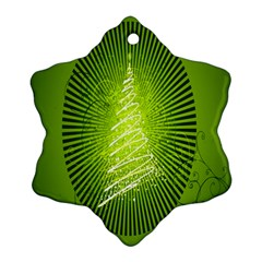 Vector Chirstmas Tree Design Snowflake Ornament (two Sides)