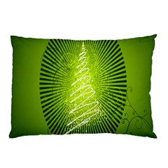 Vector Chirstmas Tree Design Pillow Case (two Sides)