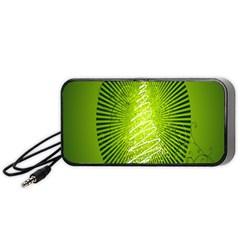 Vector Chirstmas Tree Design Portable Speaker (black)