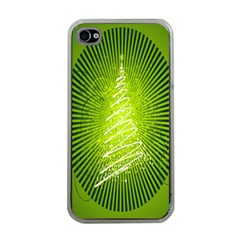 Vector Chirstmas Tree Design Apple iPhone 4 Case (Clear)