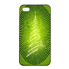 Vector Chirstmas Tree Design Apple iPhone 4/4s Seamless Case (Black)
