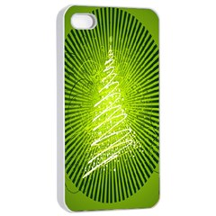 Vector Chirstmas Tree Design Apple iPhone 4/4s Seamless Case (White)
