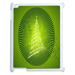 Vector Chirstmas Tree Design Apple iPad 2 Case (White)