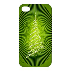 Vector Chirstmas Tree Design Apple Iphone 4/4s Hardshell Case