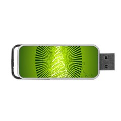 Vector Chirstmas Tree Design Portable Usb Flash (one Side)