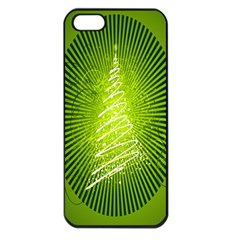Vector Chirstmas Tree Design Apple Iphone 5 Seamless Case (black)