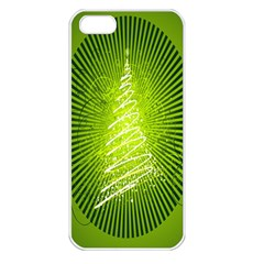 Vector Chirstmas Tree Design Apple Iphone 5 Seamless Case (white)